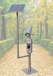 Bezobsługowa luneta widokowa zasilana panelem fotowoltaicznym płatna kartą bankomatową