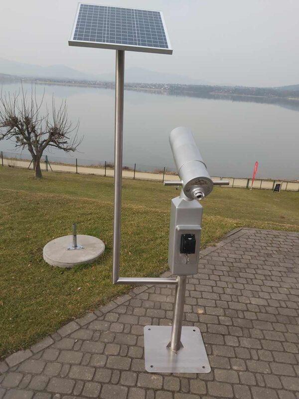 Bezobsługowa luneta widokowa zasilana panelem fotowoltaicznym
