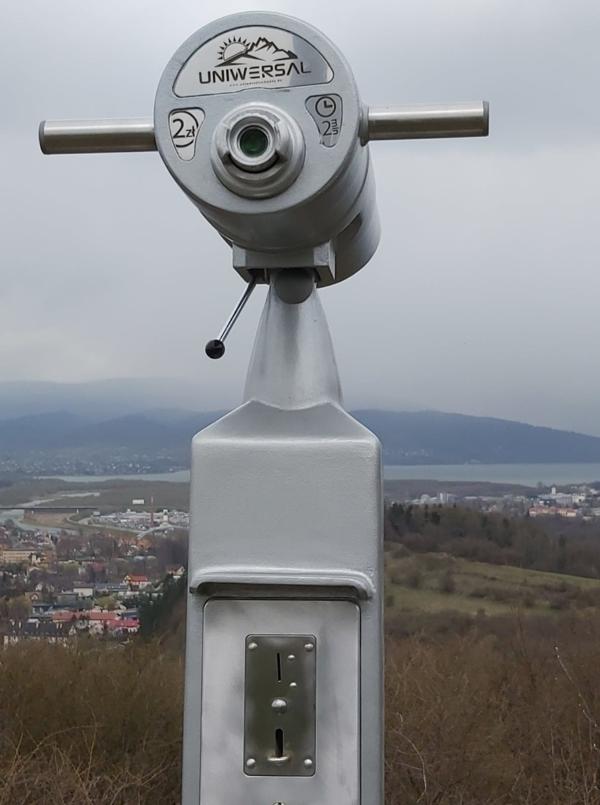Luneta widokowa na monety 25x100 na 2 PLN